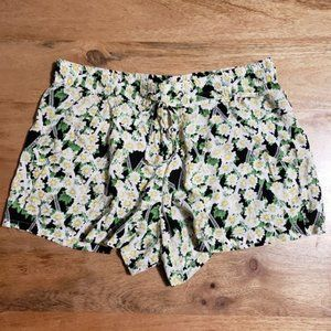 French Connection Daisy Print Shorts Elastic US 4